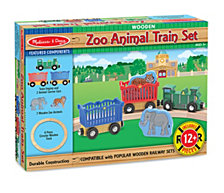 Zoo Animal Train Set