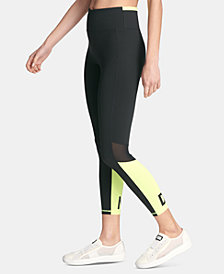 DKNY Sport Colorblocked High-Waist Ankle Leggings, Created for Macy's