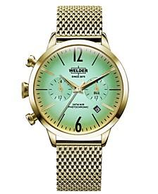 Women's Gold-Tone Stainless Steel Mesh Bracelet Watch 38mm