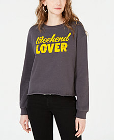 Rebellious One Juniors' Weekend Lover Graphic Sweatshirt