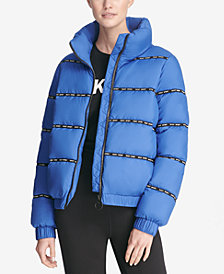 DKNY Sport Funnel-Neck Puffer Jacket, Created for Macy's