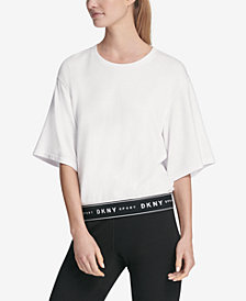 DKNY Sport Short-Sleeve Logo Sweatshirt, Created for Macy's