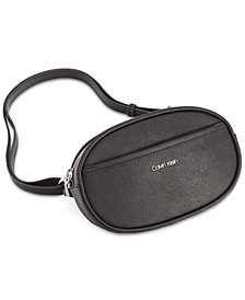 Calvin Klein Hayden Leather Round Belt Bag