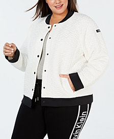 Calvin Klein Performance Plus Size Quilted Bomber Jacket