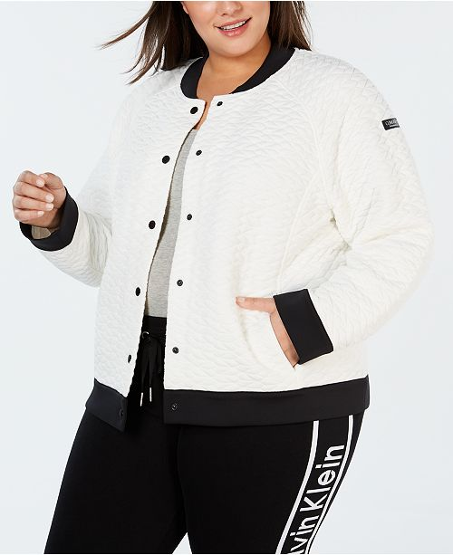 Calvin Klein Plus Size Quilted Bomber Jacket