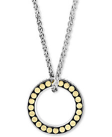 "EFFY® Circle Disc 18"" Pendant Necklace in Sterling Silver & 18k gold-plated sterling silver"