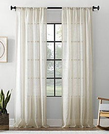 Textured Sheer Curtain Panel Collection