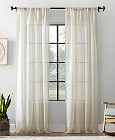 """Archaeo Textured Cotton Blend Sheer Curtain, 54"""" W x 95"""" L"""