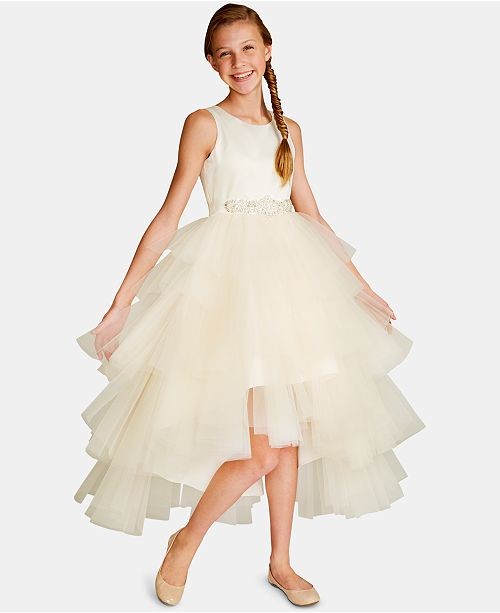 Rare Editions Big Girls Satin Tulle Fairy Dress