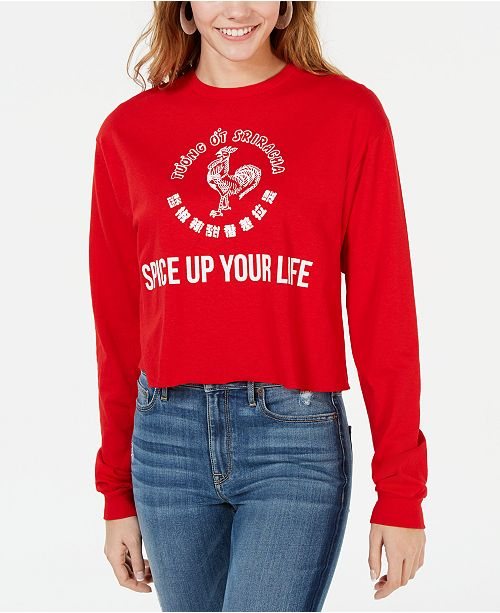 Mighty Fine Juniors' Sriracha Spice Graphic T-Shirt