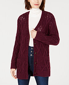 LEYDEN Cable-Knit Cardigan