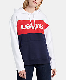 Levi's® Cotton Colorblocked Logo Hoodie