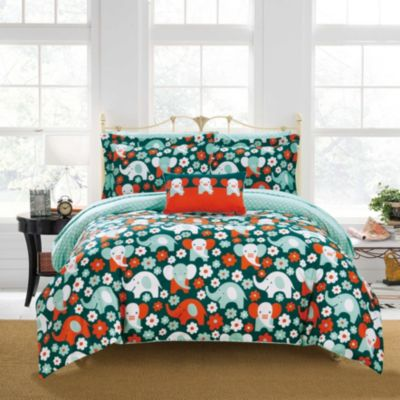 Elephant Reprise 8 Piece Full Bed In a Bag Comforter Set