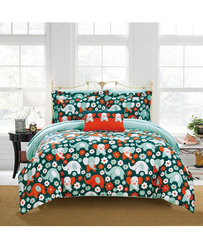 Chic Home Elephant Marsh 4-Pc. Quilt Sets