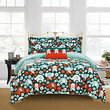 Chic Home Elephant Reprise 6 Piece Twin Bed In a Bag Comforter Set