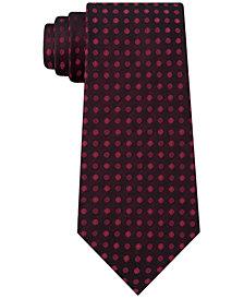 Calvin Klein Men's Molten Dot Stripe Slim Silk Tie