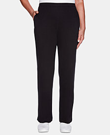 Alfred Dunner Grand Boulevard Solid Straight-Leg Pants