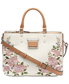 Calvin Klein Dani Floral Leather Satchel
