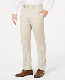 Men's Slim-Fit Performance Stretch Wrinkle-Resistant Solid Dress Pants