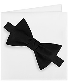 Men's Solid Bow Tie & Pocket Square Set
