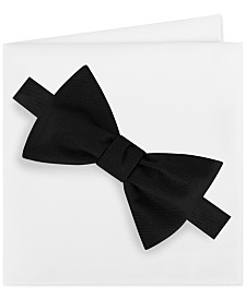 Michael Kors Men's Solid Bow Tie & Pocket Square Set
