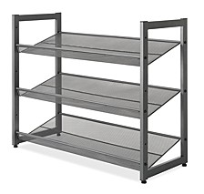 Steel Mesh 3-Tier Shoe Rack