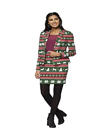 OppoSuits Women's Festive Girl Christmas Suit
