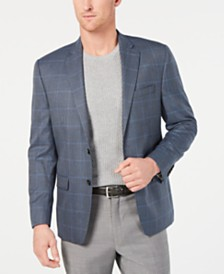 Lauren Ralph Lauren Men's Classic-Fit UltraFlex Stretch Blue Plaid Sport Coat
