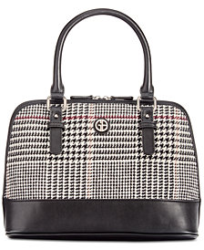Giani Bernini Woven Plaid Dome Satchel, Created for Macy's