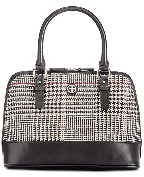 3dc0bcd1b03f ... Giani Bernini Woven Plaid Dome Satchel