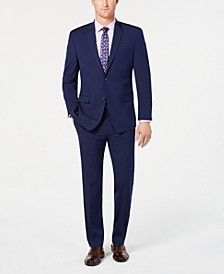by Andrew Marc Men's Modern-Fit Stretch Dark Blue Solid Suit