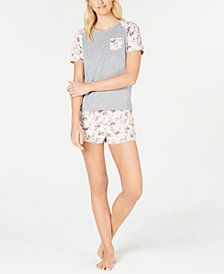 Flora by Flora Nikrooz Knit Top & Shorts Pajama Set