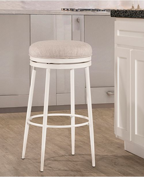 Aubrie Swivel Backless Counter Stool