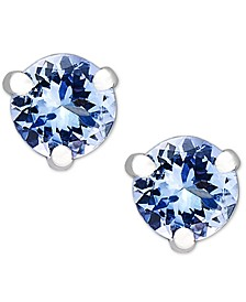 14k White Gold, Round Tanzanite Stud Earrings (3/4 ct. t.w.)