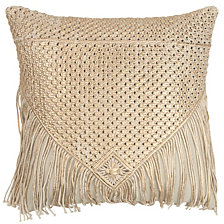 """Rizzy Home 20"""" X 20"""" Macrame Pillow Cover"""