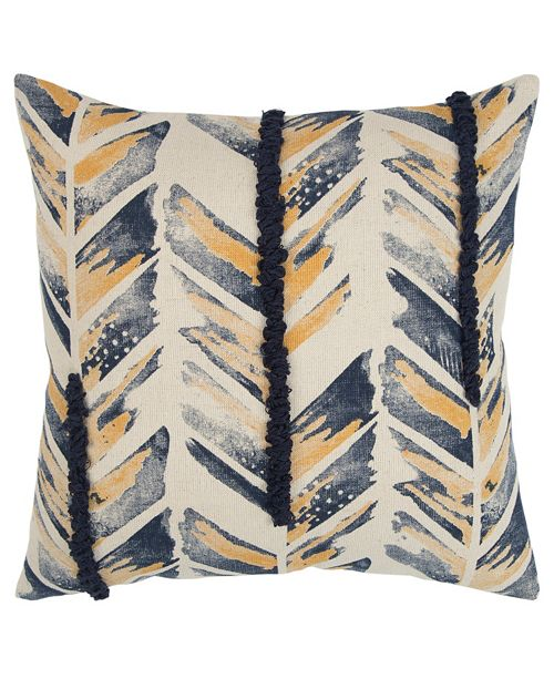 "Rizzy Home 20"" x 20"" Chevron Down Filled Pillow"
