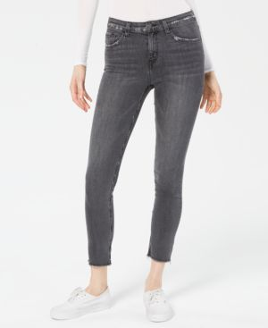 FLYING MONKEY High-Rise Frayed Skinny Jeans in Revolver