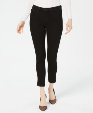 FLYING MONKEY Ankle Skinny Jeans in Soot