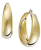 I.N.C. Gold-Tone Wide Hoop Earrings