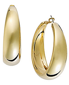 Thalia Gold-Tone Wide Hoop Earrings