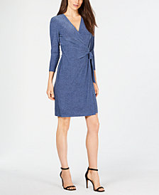 Anne Klein Robin's Egg Wrap Dress