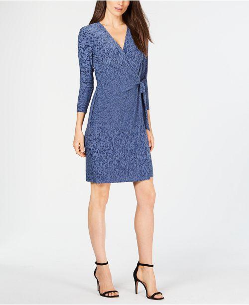 0f5fa5b5716 Anne Klein Robin s Egg Wrap Dress   Reviews - Dresses - Women - Macy s