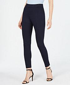 Anne Klein Birdseye-Knit Pull-On Skinny Pants