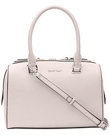 Calvin Klein Mercy Leather Satchel