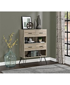Ameriwood Home Dylan Retro Bookcase With Bins