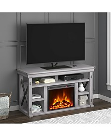 Ameriwood Home Broadmore 60 Inch Fireplace Tv Stand