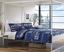 Eastmont Navy King Quilt Set