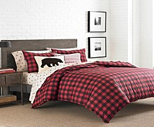 Mountain Plaid Scarlet Full/Queen Duvet Cover Set