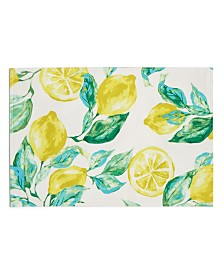 "Bardwil Lemons 13"" x 19"" Indoor/Outdoor Placemat"