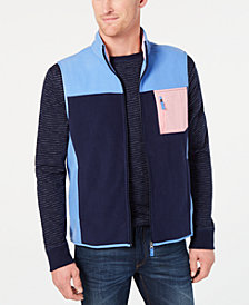 Club Room Men's Colorblocked Fleece Vest, Created for Macy's